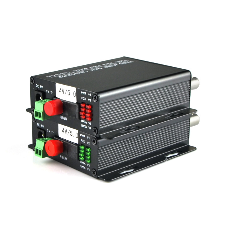 1 Pair 2 Pieces/lot 4 Channel Video Optical Converter 4V1D Fiber Optic Video Optical Transmitter & Receiver 4CH+RS485 Data