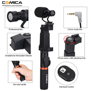 Image 3 - Comica Smartphone Video Rig Kit CVM VM10 K3 Filmmaker Handle with Mini Phone Video Microphone for iPhone Samsung LG Huawei etc.