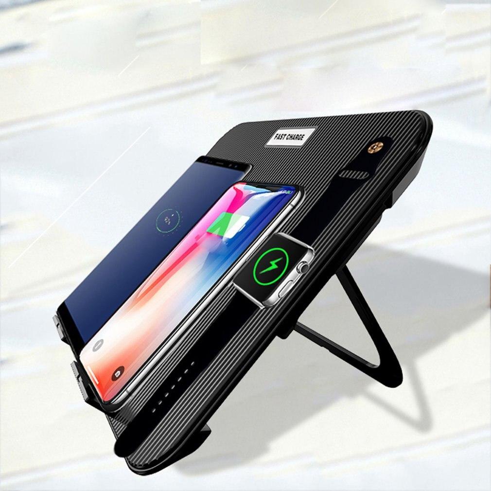 Chargeur sans fil pliable multifonction quatre en un chargeur sans fil pour téléphone portable Smartwatch et casque sans fil