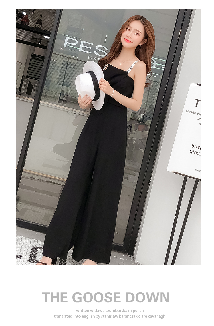 Summer New Sling Bowknot Rompers Womens Jumpsuit Fashion Wide Leg Pants Thin Combinaison Femme Elegant Ol Clothes For Women 12
