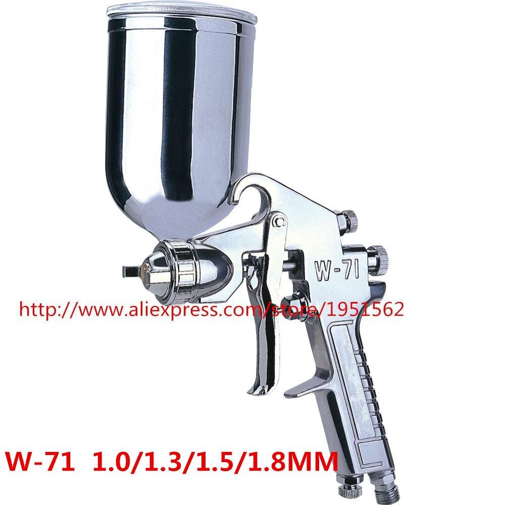 SPRAY GUN H.V.L.P W-71  Perfect atomization High quality  Wholesale and retail  1.0/1.3/1.5/1.8mm l v l p high quality atomization spray gun 2010b free shipping