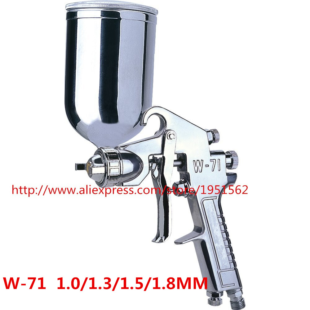 SPRAY GUN HVLP W-71 Perfect atomization High quality Japan Made Wholesale and retail 1.0/1.3/1.5/1.8mm wholesale and retail devilbiss gfg professional spray gun hvlp car paint gun 1 3mm painted high efficiency good atomization