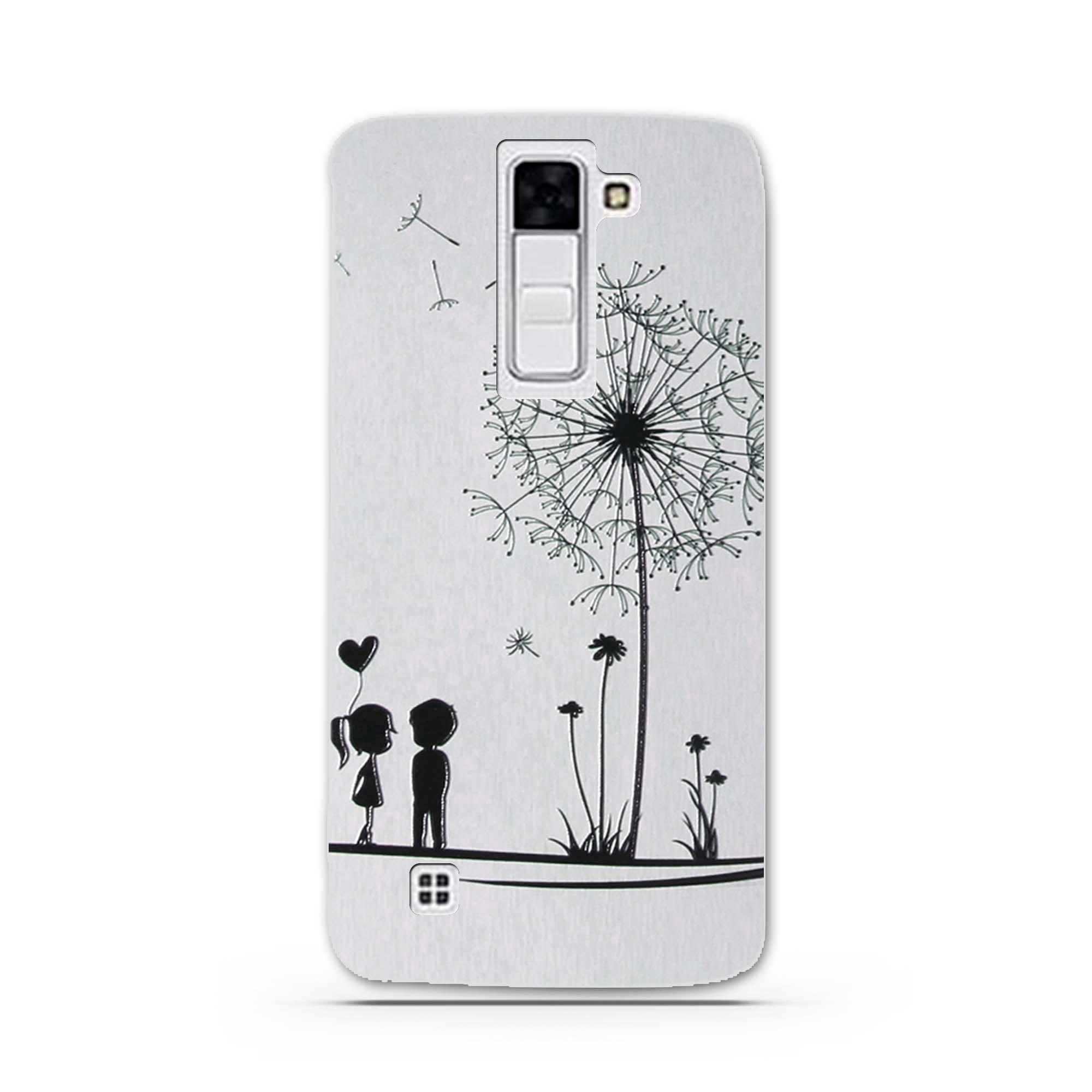 """Case Miękka TPU Luksusowe 3D Ulga Druk Pokrywy Skrzynka Dla LG K8 Lte K350 K350E K350N 5.0 """"K 8 Telefon Powrót Silicon Pokrywa Bag Sprawach 21"""