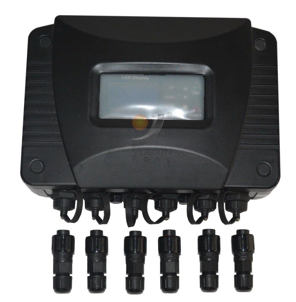 Открытый дистрибьютор DMX Профессиональный DJ освещения IP65 сплиттер DMX512 усилитель сигнала Системы