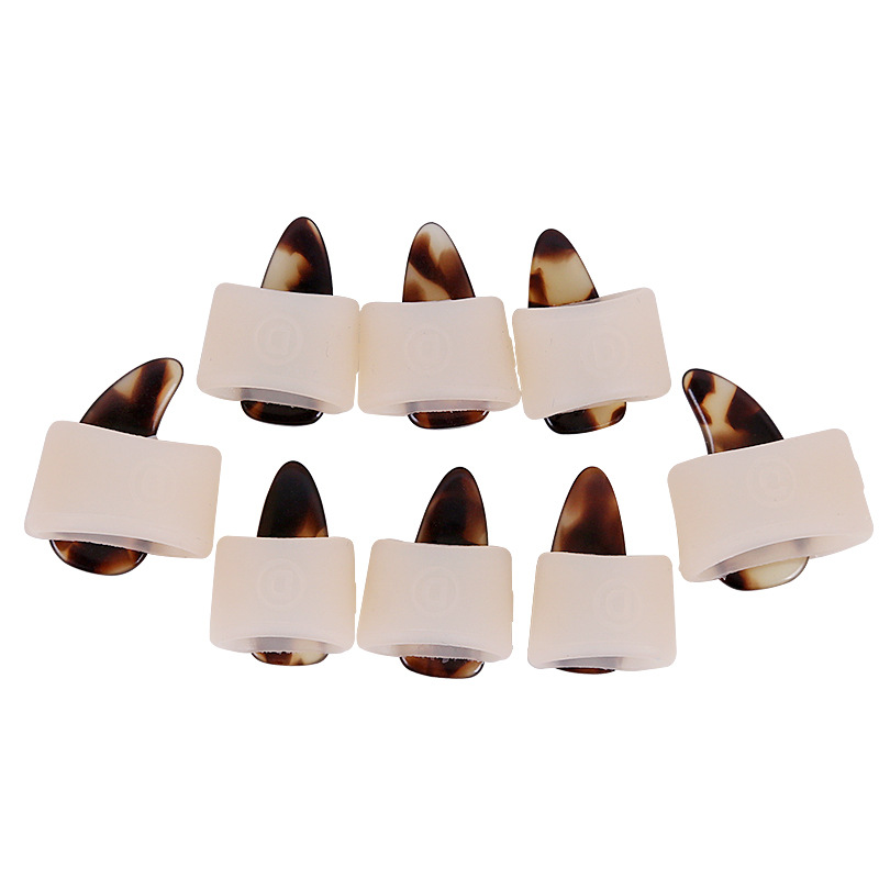 8pcs Guzheng Nail Cover Set Chinese Zither A Box Of Eight Guzheng Accessories Silicone Guzheng Practice Nail Protection Covers
