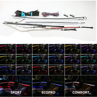 Car Interior Decorative Led Ambient Door Light Stripes Atmosphere Light With 18 Colors For BMW 6 Series 640i_650i 7 Series 730