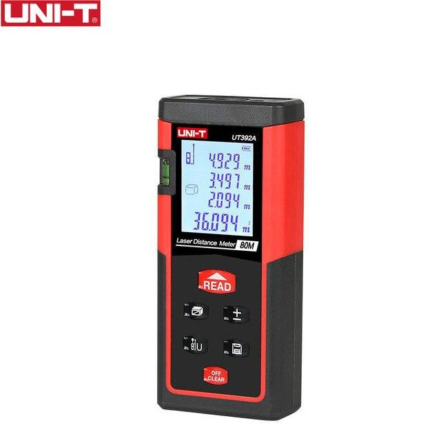 UT392A Laser Distance Meters 80m Range Data Calculate Add Subtract Continuous Measurement UNIT Min 1.5mm Rangefinder unit ut395a ut395b ut395c laser distance meters 50m 70m 100m rangefinder best accuracy software data calculate continuous measur