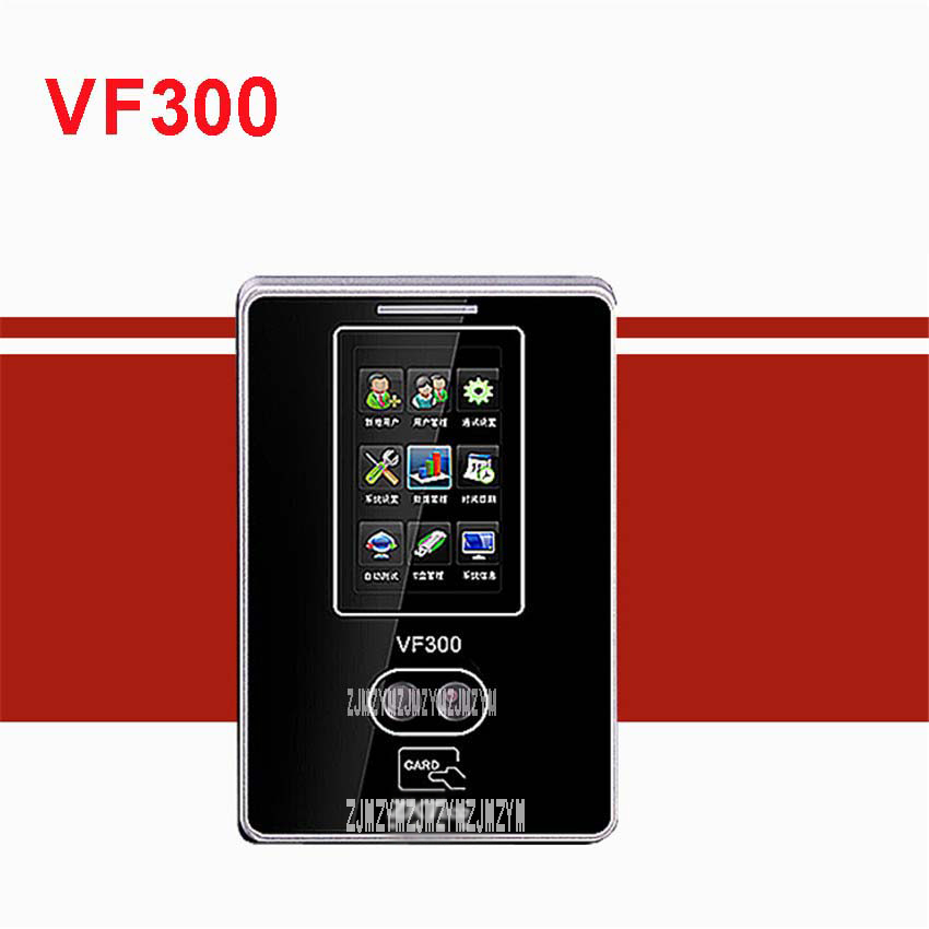 VF30 biometric tcp / ip usb facial recognition time attendance time recorder time clock free software DC12V Face attendance