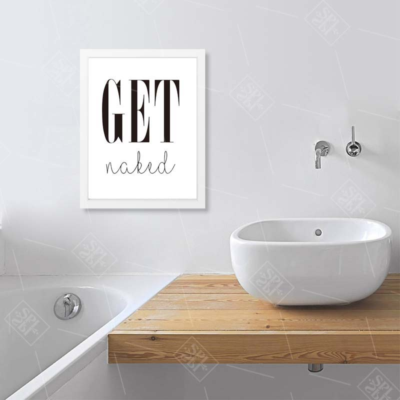 Image 4 - Get Naked Poster&Prints Toilet Life Quote Modular Wall Art Wall Picture For Bathroom Modern Canvas Painting Washroom Home Decor-in Painting & Calligraphy from Home & Garden