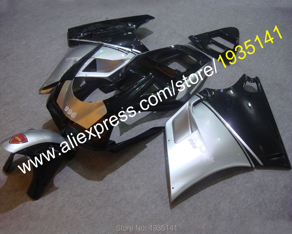 Hot Sales,Popular kit For Ducati 996 748 DUCATI 748 996 1996-2002 black silver motorbike bodywork fairing (Injection molding)