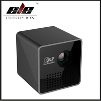 Portable P1 WIFI Wireless Pocket Projector LPD HD Video Pico Built In Battery Audio Splitter