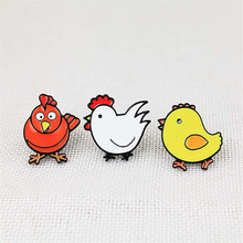XQ2017 free shipping fashionable woman new jewelry Cute dripping oil chicken pet brooch Fashion simple fashion accessories whole