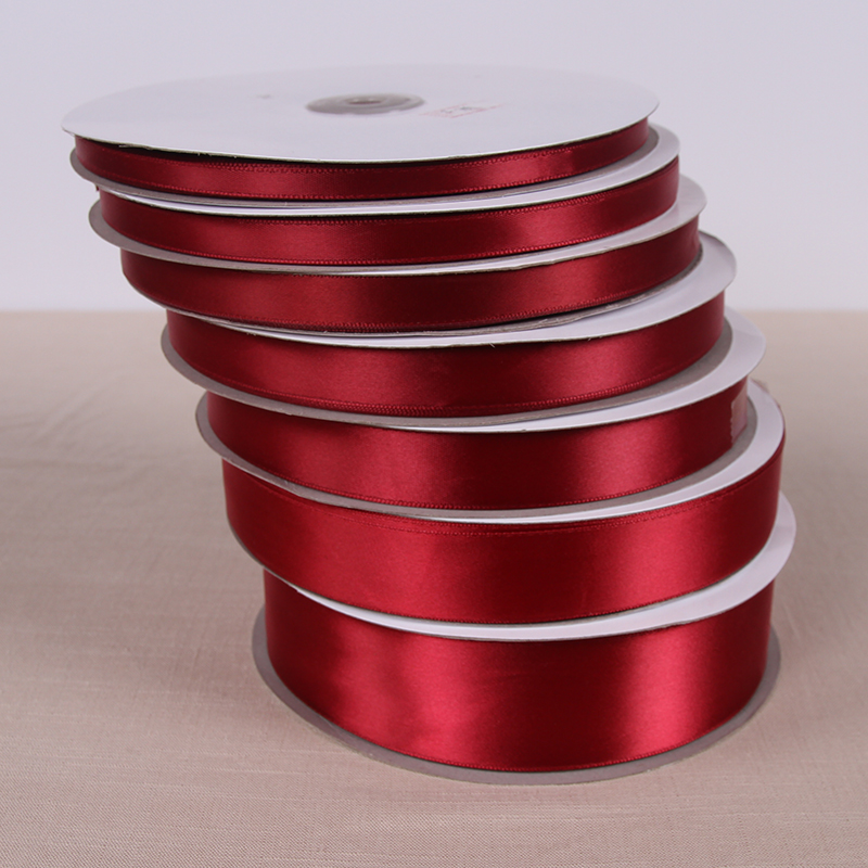 d8334bb429 25 Yards Wine Red Silk Satin Ribbon with gold Wedding Party Decoration Gift  Wrapping Supplies Apparel Sewing Fabric DIY-in Ribbons from Home   Garden  on ...