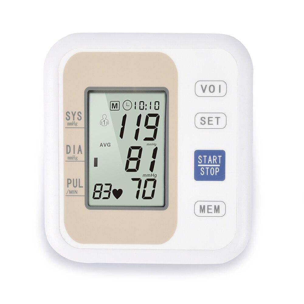 Digital Blood Pressure Monitor Tonometer Medical Equipment LCD Apparatus for Measuring Pressure Home Heart Beat Meter Machine 1