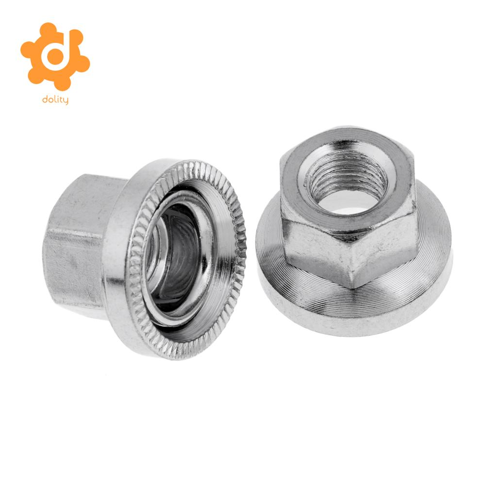 20x Durable Axle Wheel Nuts for Bolt Screw Fastener Washer Bike Accessory