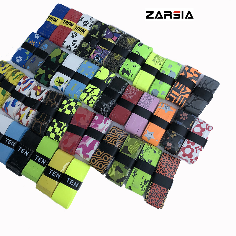 10pcs ZARSIA NEW Sticky feel Tennis Grip various printing pattern badminton racket overgrips 60 pecs lot zarsia sticky viscous overgrip tennis grip regular badminton grip tennis overgrips tennis product