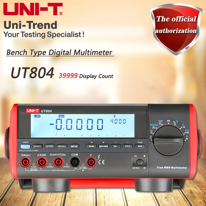 UNI-T UT804 Desktop Digital Multimeter High Precision True RMS Multimeter Resistance/Capacitance/Frequency/Temperature Tes victor victory multimeter vc86e 4 1 2 digit precision multimeter frequency capacitance temperature with usb