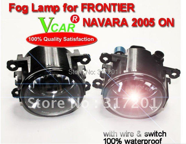 Free ship! 55W 12V 2005 FRONTIER NAVARA fog light/fog lamp with Halogen bulb+wire of harness,4300K,super good!