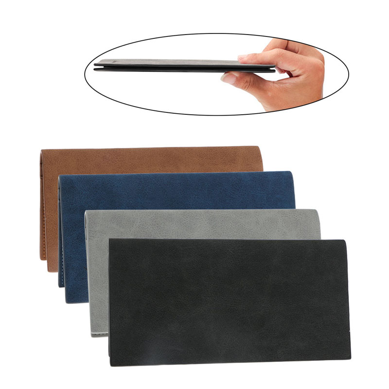 цена THINKTHENDO Men's Retro Ultra Slim Faux Leather Wallet Billfold ID Card Holder Long Purse Designer онлайн в 2017 году