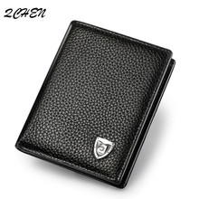 New cowhide leather wallet men wallets luxury brand clutch wallet Brown money clip men's leather wallet male purse 147Q