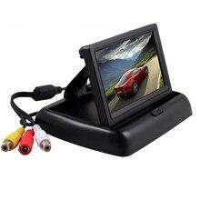 4.3 «HD Складной Монитор Заднего Вида Автомобиля Реверсивный Резервное Копирование Цветной TFT LCD Экран для Грузовик Резервного Копирования Камера Заднего вида