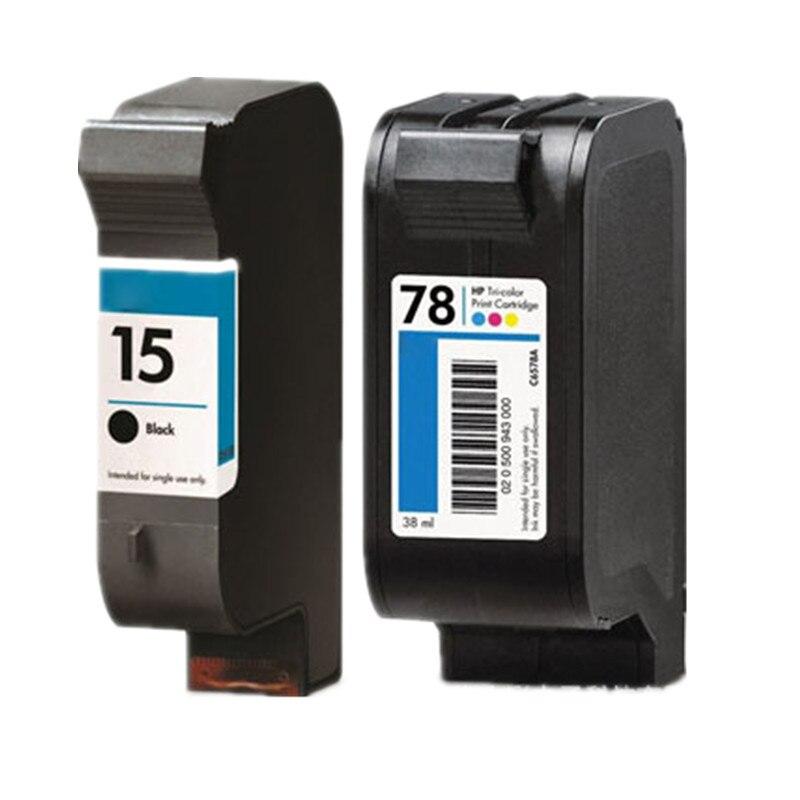 Tintenpatronen für hp 15 78 xl c6615a c6578a deskjet 3920 fax 1230...