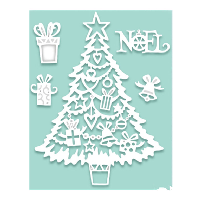 metal cutting dies stencils cute christmas tree scrapbooking embossing diy crafts christmas decorations cutting dies paper card in cutting dies from home