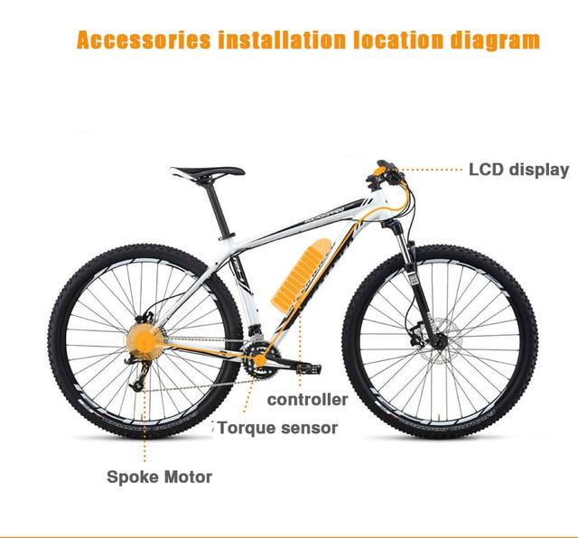 72V 3000W Electric Bicycle EBike Conversion Kits Motor Para Bicicleta 20