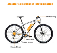 72V 3000W Electric Bicycle eBike Conversion Kits Motor Para Bicicleta 20 24 26 28 Rear / Front Wheel