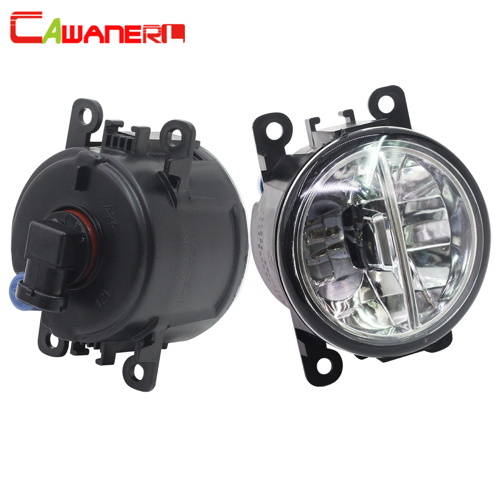 Cawanerl 2 X Car LED Bulb Fog Light 4000LM White 6000K 12V Auto Daytime Running Lamp DRL Accessories For Citroen C5 2004-2015 cawanerl 2 x car led fog light drl daytime running lamp accessories for nissan note e11 mpv 2006