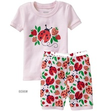 New Arrival Girl's Summer Pajamas Children Clothing Sets Colorful Baby Girl Clothes Outfits T-Shirts Shorts Princess Baby Suit цена 2017