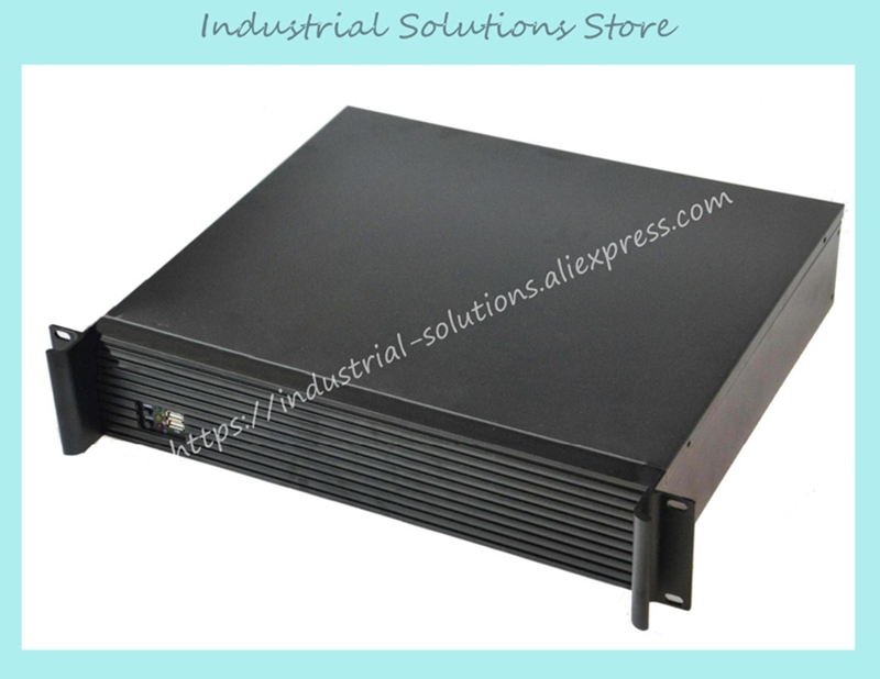 NEW Quality aluminum panel 2u computer case ultra-short 2u server industrial computer case firewall industrial computer case new ultra short 3u computer case 38cm 8 hard drive pc large panel atx power supply 3u server industrial computer case