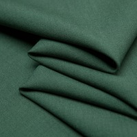Solid Dark Milk Green Plain Worsted Wool Fabric Smooth And Neat Sewing For Suit Dress Pants