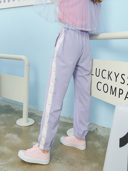 Princess sweet lolita pants Autumn and winter sweet Institute heart embroidered side embroidered cotton loose pants VC222