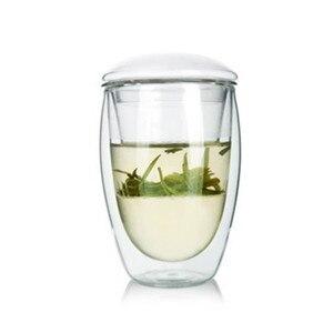 350ML Double Wall Glass Tea Cu