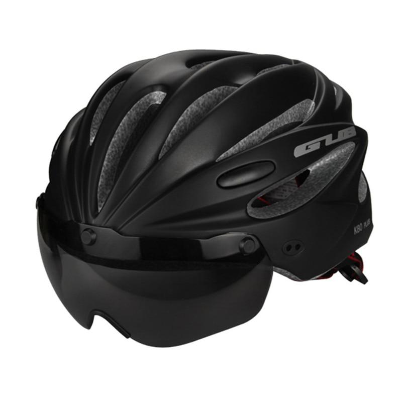GUB Cycling Helmet with 2 Lens Integrally-molded MTB Bike Helmet 17 Air Vents Bicycle Helmet 58-62cm casco bicicleta
