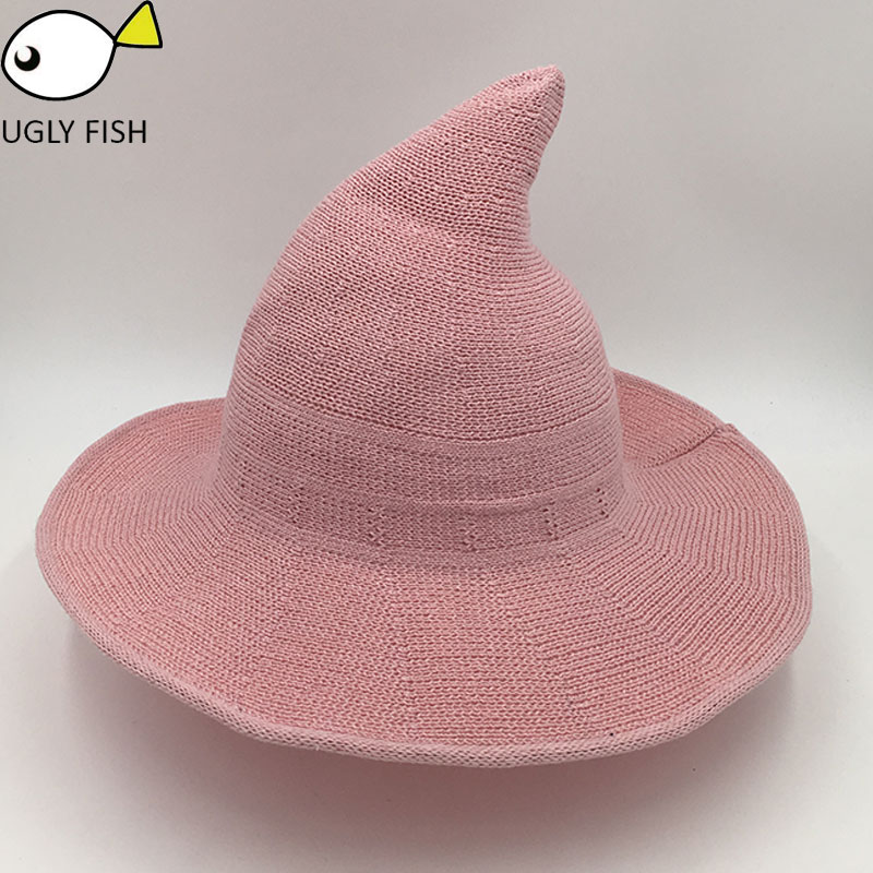edeffb445 US $6.77 45% OFF|Sun Hat for Women foldable Costume Ball Hat Cap Witch Hat  For Xmas Cute crochet women Summer hat -in Sun Hats from Apparel ...