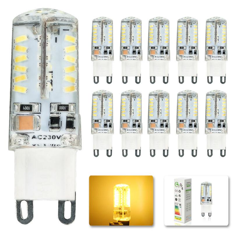 10x LED Bulb lamp SMD 3014 G9 6W 58LED Corn Light AC 220V 360 Degree Replace Halogen Lamp Warm white good quality LED