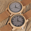 BOBO BIRD WA18L10 Vintage Lightweight Round Bamboo Wood Quartz Watches With Leather Bands for Women Men watches top brand design 4