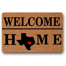 Welcome Home Texas Decorative 18x30 inch front entrance door outdoor decor indoor funny floor mats