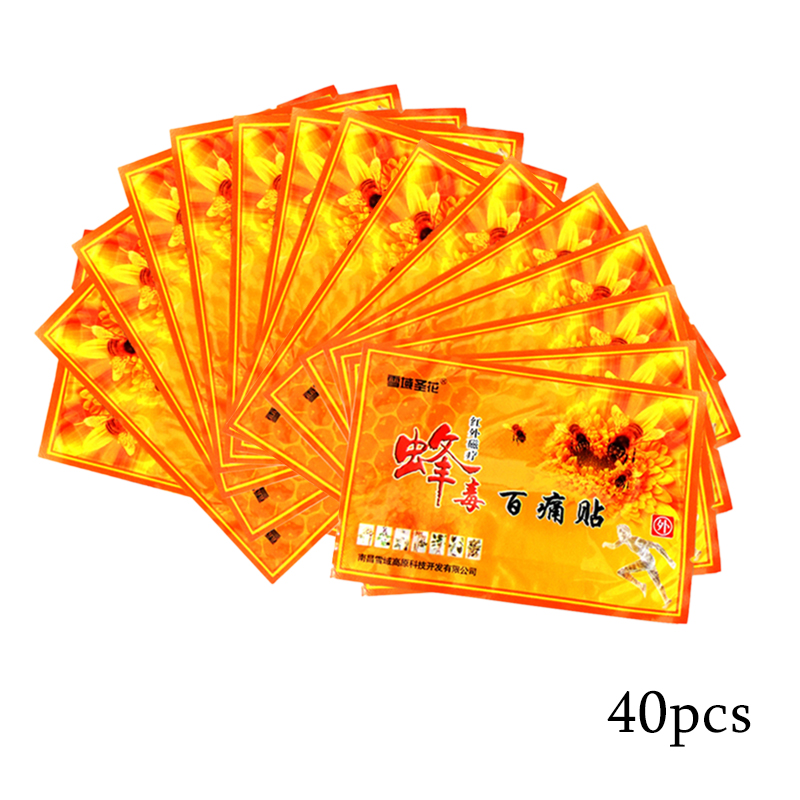 40Pcs/bag Chinese Bee Venom Balm Joint Pain Patch Neck Back Body Relaxation Pain