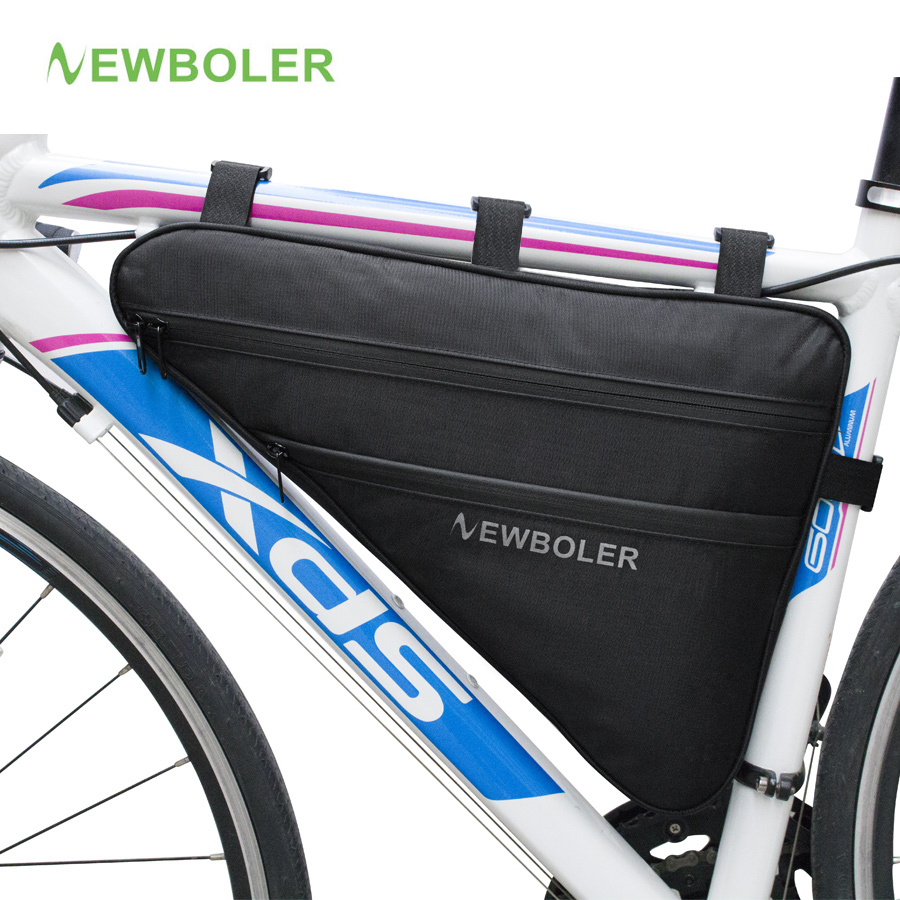 2018 NEWBOLER gran bolsa triángulo bicicleta marco frente tubo bolsa impermeable ciclismo bolsa Pannier Ebike herramientas accesorios XL