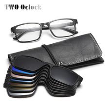 TWO Oclock Flexible Magnet Sunglasses Men Polarized Clip On Glasses Women 7 In 1