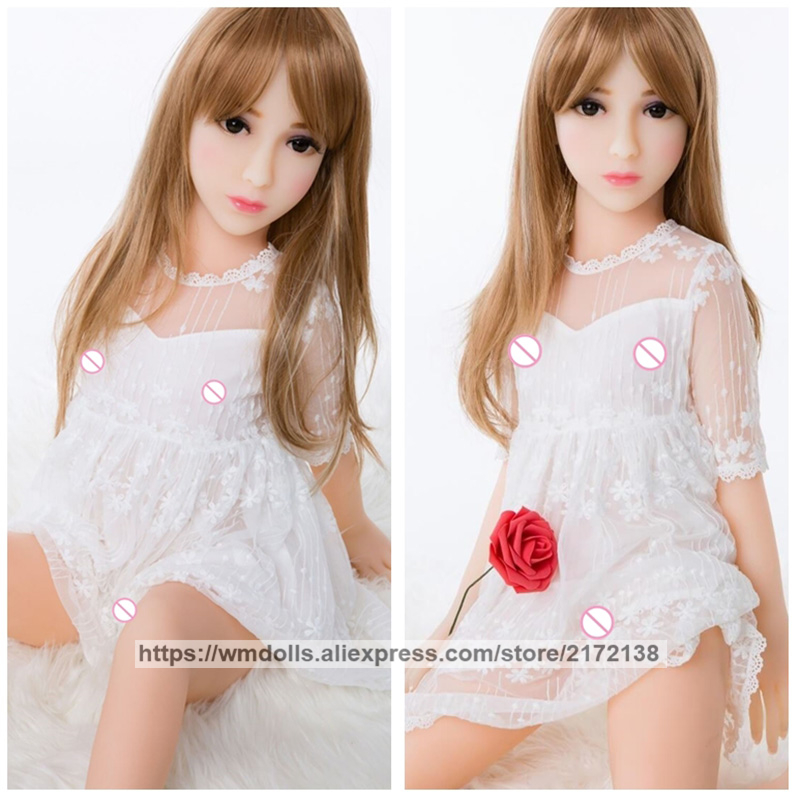 <font><b>100cm</b></font> Realistic Silicone <font><b>Sex</b></font> <font><b>Dolls</b></font> Real <font><b>Flat</b></font> Chest Mini Young Girl Adult Love <font><b>Doll</b></font> Lifelike Small Breast image