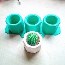Силиконовые формы, креативные геометрические полигональные бетонные цветочные горшки, ваза, форма для украшения офиса, сделай сам, глина, цементика, силиконовая форма