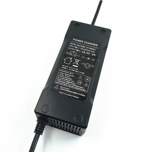 Image 3 - מובנה אוהד 29.4 v 3A/4A/5A חכם חשמלי ליתיום יון מטען עבור Lipo סוללה חבילת כוח כלי