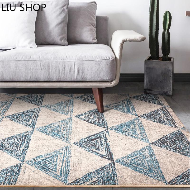 US $40.71 31% di SCONTO|LIU Nordic geometria tappeto moderno tappeto in  stile classico decorativo per soggiorno camera da letto mat tavolino  comodino ...