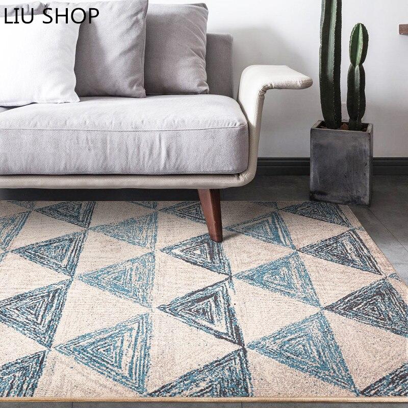 LIU Nordique géométrie tapis moderne classique décoratif style tapis pour salon table basse tapis chambre de chevet couverture tapis