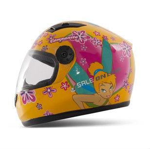 T866 Children's Motorcycle Helmet Tinker Bell Safety Girl Cute Full Face Kids' Helmets 4 colors S7103 - E-Level Gift Limited store