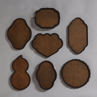 Handmade Bamboo kung fu Cup Mat Tea Tray Saucer Teapot Trivets Accessories Fruit Dish Coffee Drinks Mug Party Kitchen Decor